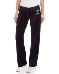 Juicy Couture - Crown Velour Pants - Lyst
