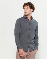 Dstrezzed - Cross Check Jacquard Long Sleeve Sport Shirt - Lyst