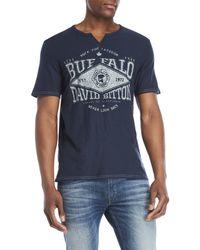 Buffalo David Bitton - Graphic Split V-neck Tee - Lyst