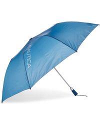 Nautica Solid Auto Open Umbrella - Blue
