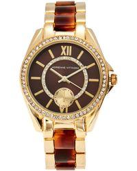 Adrienne Vittadini - Ad10144G416 Gold-Tone Watch - Lyst