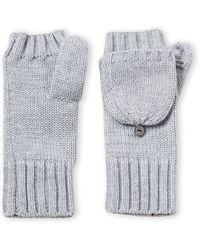 Badgley Mischka Lurex Fingerless Gloves - Gray