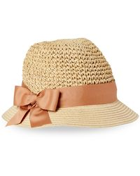Kathy Jeanne Bow Paper Cloche - Natural