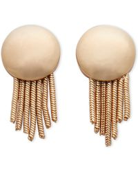 Catherine Stein - Gold-Tone Circle Fringe Earrings - Lyst