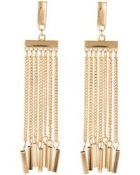 Catherine Stein - Gold-Tone Fringe Earrings - Lyst