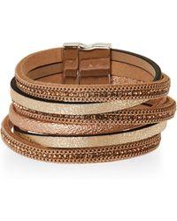 Elise M Gold-Tone Multi Strand Bracelet - Metallic