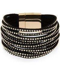 Elise M Black Multi Strand Stud Bracelet