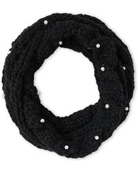 Betsey Johnson - Cable Knit Cowl Scarf - Lyst