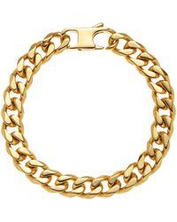 Blackjack - Gold-Tone Linked Bracelet - Lyst