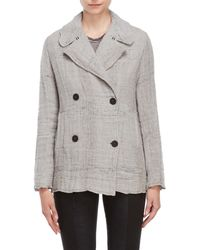 Transit - Grey Double-breasted Jacket - Lyst
