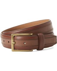 Cole Haan - Gold-tone & Woodbury Leather Belt - Lyst