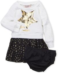 Juicy Couture (infant Girls) Two-piece Quilted Sequin Star Dress & Underwear Set - Multicolor