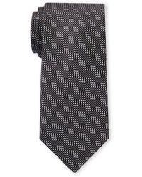 Calvin Klein Dotted Silk Tie - Black