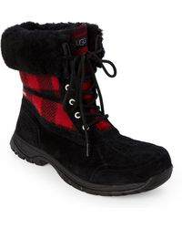 UGG - Black & Redwood Butte Lined Duck Boots - Lyst