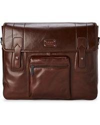 "Dopp - 17"" Brown Leather Gear Bag - Lyst"