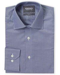 Bonobos Marine Light Blue Efford Check Dress Shirt