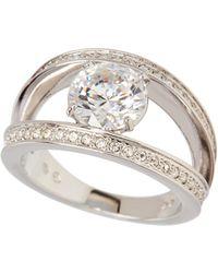 Swarovski - Silver-tone Vitality Ring Size 6.75 - Lyst