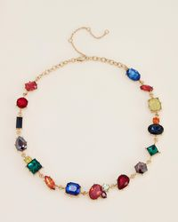 Catherine Stein Rainbow Crystal Necklace - Multicolor