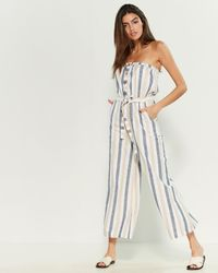 Blue Island - Strapless Swim Cover-up Jumpsuit - Lyst