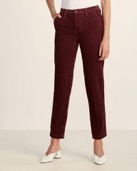 Le Mont St Michel Corduroy Slim Fit Pants - Red