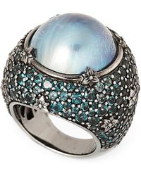 Stephen Dweck - Blue Mabe Pearl & Pave Ring Size 7 - Lyst