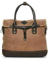Will Leather Goods - Canvas & Leather Zig Zag Lookout Briefcase - Lyst