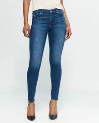 7 For All Mankind - Gwenevere Ankle Straight Jeans - Lyst
