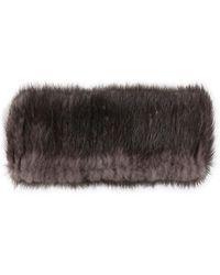 Belle Fare - Real Mink Fur Knit Headband - Lyst