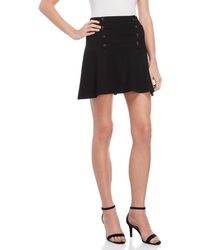 Juicy Couture - Button Front Skater Skirt - Lyst