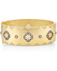 Freida Rothman Gold-tone Embellished Bangle - Metallic