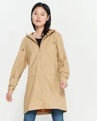 Rains Hooded Slicker Raincoat - Natural