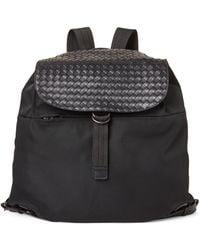 Bottega Veneta - Black Leather Woven Backpack - Lyst