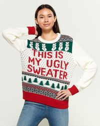 American Stitch This Is My Ugly Christmas Sweater - White