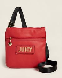 Juicy Couture Cherry Blank Check Large Crossbody - Red