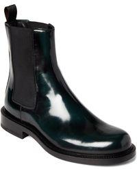 Jil Sander - Black & Green Patent Chelsea Boots - Lyst