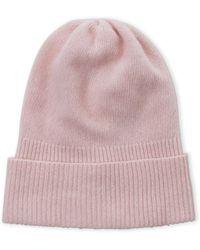 Portolano - Solid Cashmere Ribbed Cuff Hat - Lyst