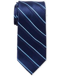 MICHAEL Michael Kors - Silk Double Ribbed Stripe Tie - Lyst