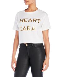 La Maison Talulah - Lady Lover Cropped Tee - Lyst