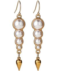 Lulu Frost - Gold-tone Faux Pearl Linear Earrings - Lyst