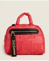 Juicy Couture Crimson Red Gothic Quilting Mini Satchel