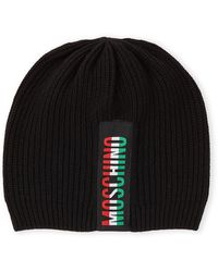 Moschino Black Logo Beanie