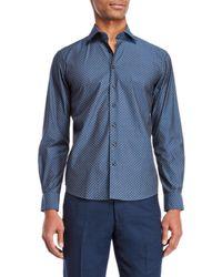 Tocco Toscano - Honeycomb Print Sport Shirt - Lyst
