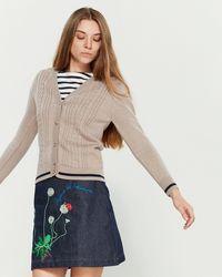 Maison Labiche Wool Cable Knit Cardigan - Natural