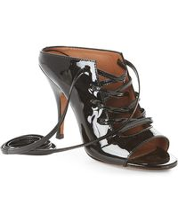 Givenchy - Black Patent Lace Sandals - Lyst