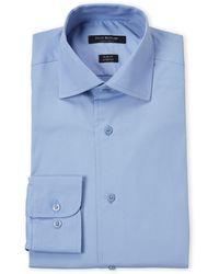 Isaac Mizrahi New York - Ice Blue Stretch Slim Fit Dress Shirt - Lyst