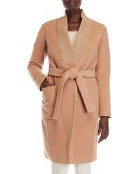 SOIA & KYO - Belted Wool Coat - Lyst
