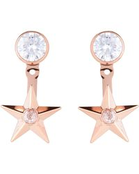 Michael Kors - Rose Gold-tone Celestial Ear Jacket Earrings - Lyst