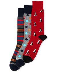 Unsimply Stitched | 3-pack Cat Stripe Crew Socks | Lyst