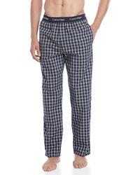 Calvin Klein - Navy Check Pajama Pants - Lyst