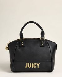 Juicy Couture Black Blank Check Satchel